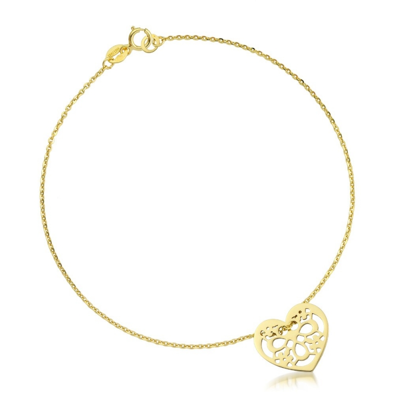 Bransoletka złota - Ornament Heart