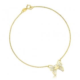 Bransoletka złota - Butterfly