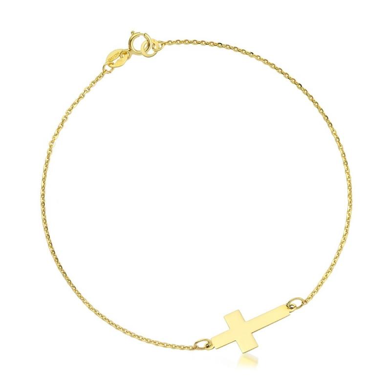 Bransoletka złota - Krzyżyk