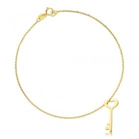 Bransoletka złota - Golden Key