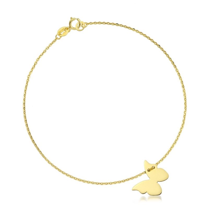 Bransoletka złota - Butterfly Gold
