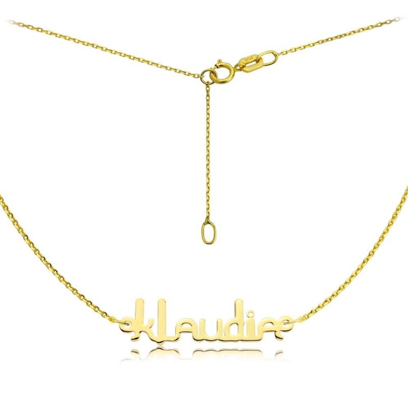 Naszyjnik -  Złote Imię Ether Klaudia
