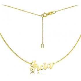 Naszyjnik -  Złote Imię Lovers Ircia