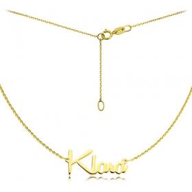 Naszyjnik - Złote imię Remachine Klara