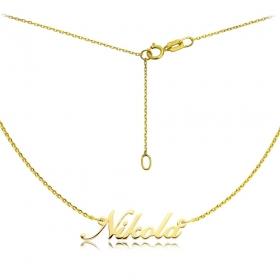 Naszyjnik złoty z imieniem - czcionka Shalley