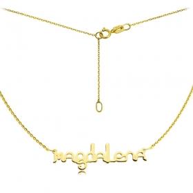 Naszyjnik - Złote Imię Ether Magdalena