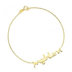 Bransoletka złota z imieniem -  czcionka Ether