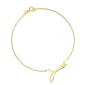 Bransoletka złota z imieniem - czionka Yelka