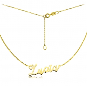 Naszyjnik - Złote Imię Lovers Zuzia