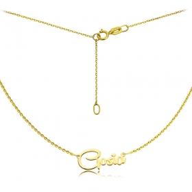 Naszyjnik złoty z imieniem - czcionka Remachine