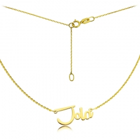 Naszyjnik - Złote imię Remachine Jola