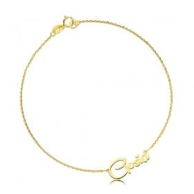 Bransoletka złota z imieniem - czcionka Remachine