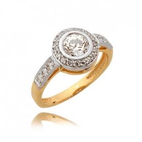Pierścionek złoty N366p