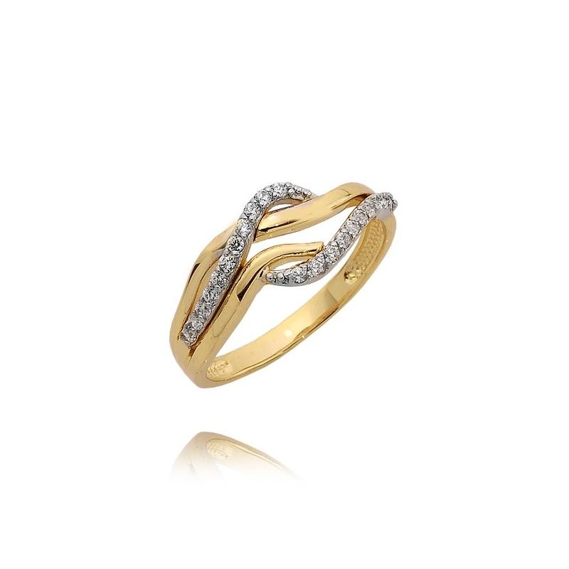 Pierścionek złoty N385p