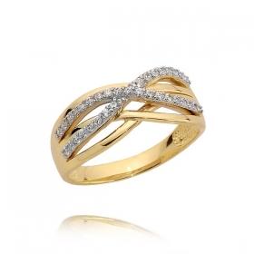 Pierścionek złoty N384p