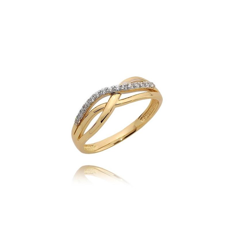 Pierścionek złoty N382p