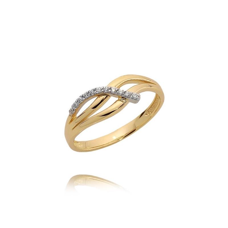 Pierścionek złoty N381p