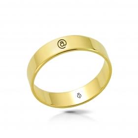 Ring złoty Małpa