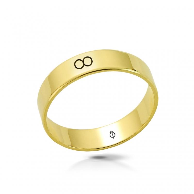 Ring złoty Nieskończoność