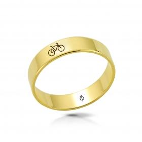 Ring złoty Rower