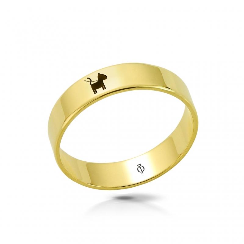 Ring złoty Pies