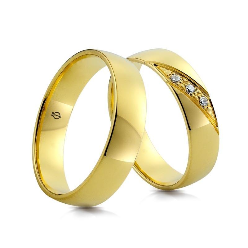 Złote obrączki A160