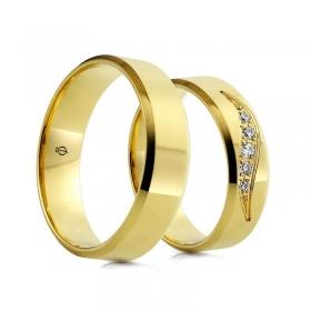 Złote obrączki C102