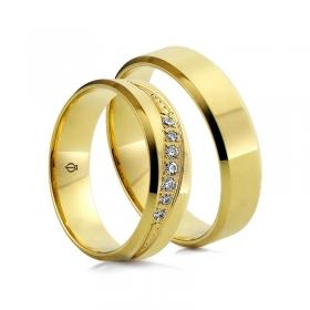 Złote obrączki C104