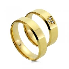 Złote obrączki C105