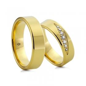 Złote obrączki C109