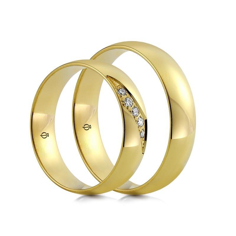 Złote obrączki C116