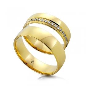 Złote obrączki C121