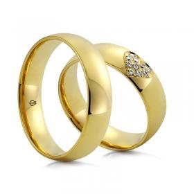 Złote obrączki C122