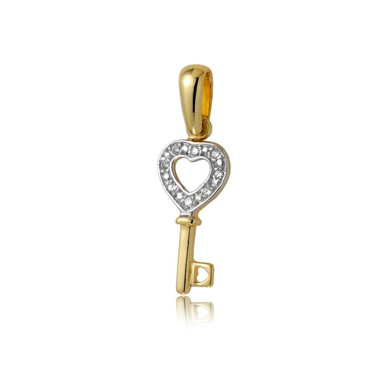 Zawieszka złota W159 kluczyk