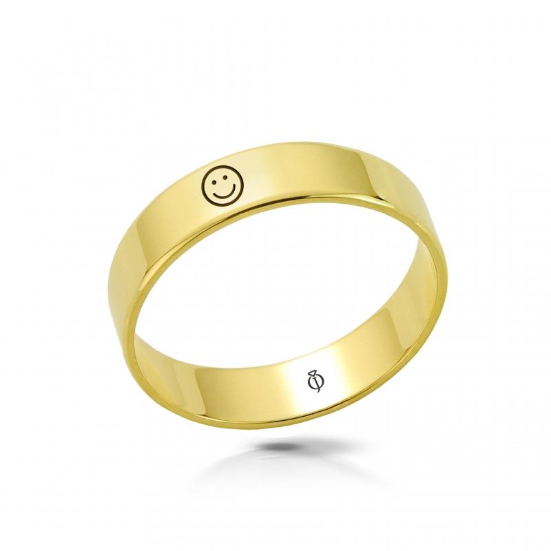 Ring złoty Uśmiech