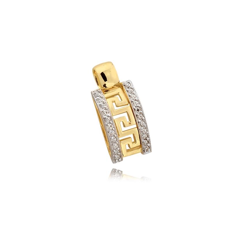 Złota zawieszka N 0211 W
