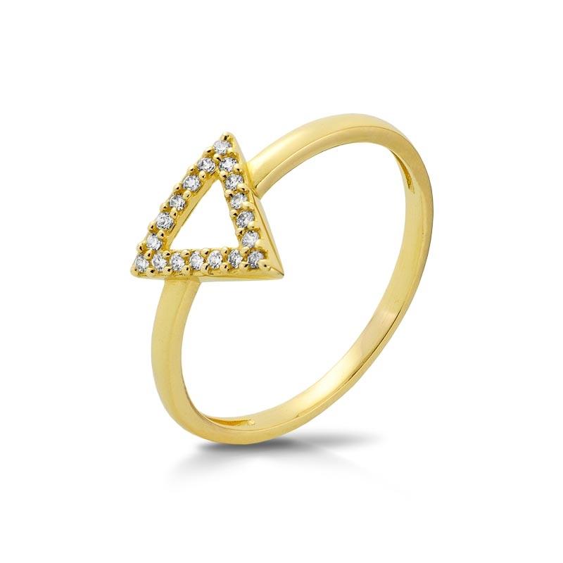 Pierścionek złoty P1952 trójkąt