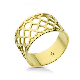 Pierścionek ażurowy złoty P36