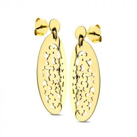 Kolczyki ażurowe złote Margharita