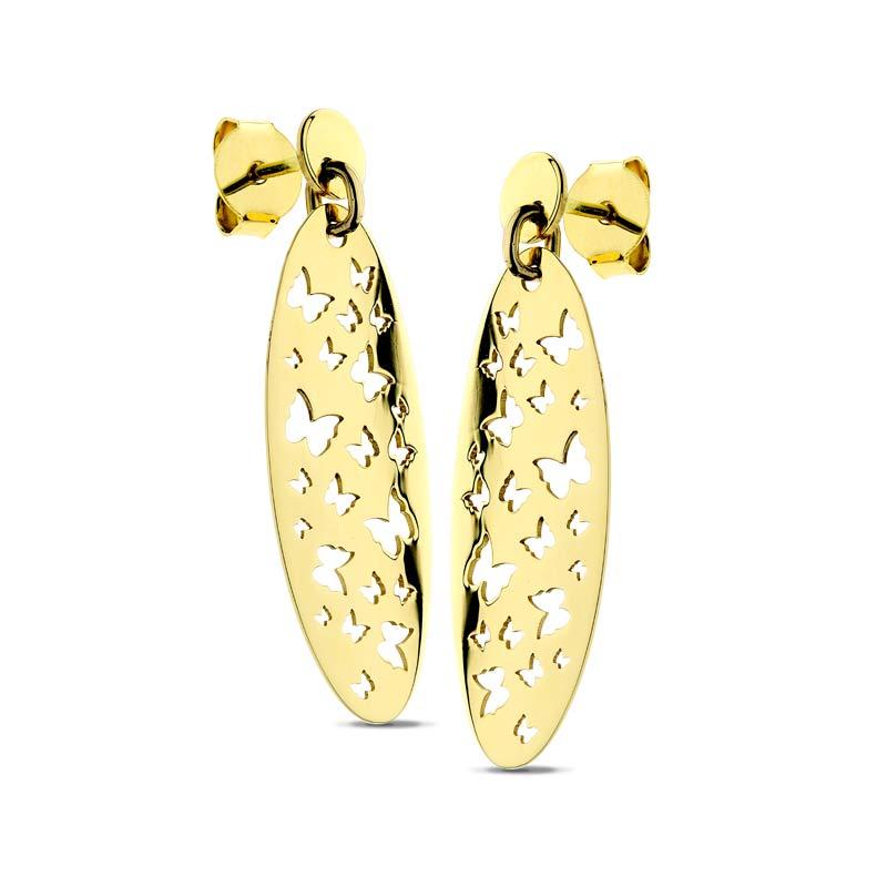 Kolczyki ażurowe złote Butterfly