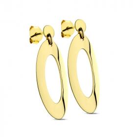 Kolczyki ażurowe złote Ellipse