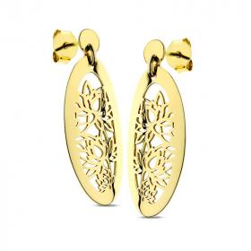 Kolczyki ażurowe złote Giglio