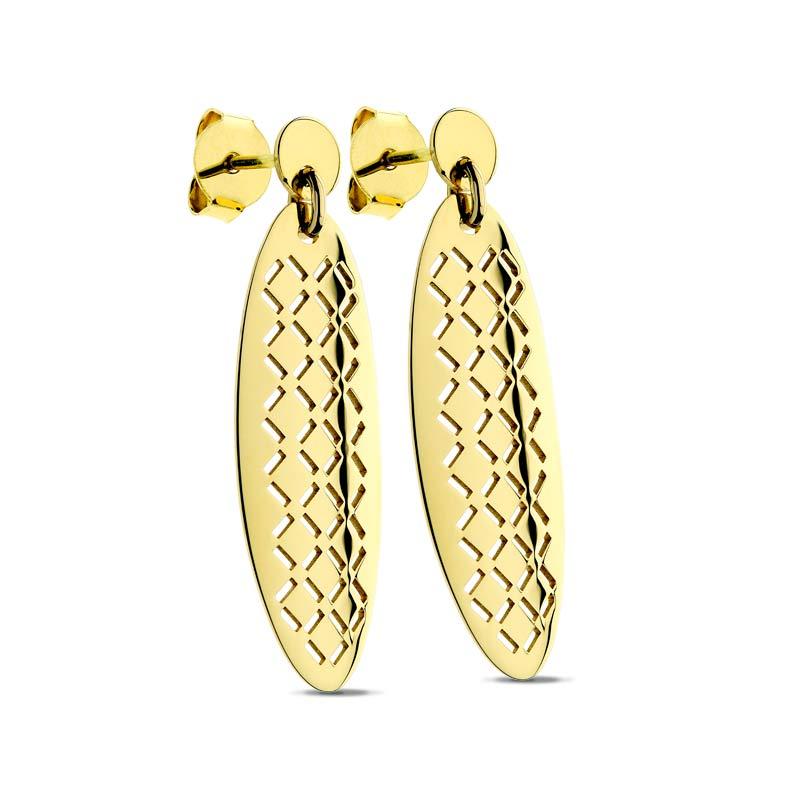 Kolczyki ażurowe złote Farfalla