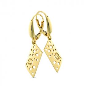 Kolczyki ażurowe złote Soffione Rhombus