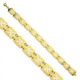 Bransoleta złota Trefle kwadraty