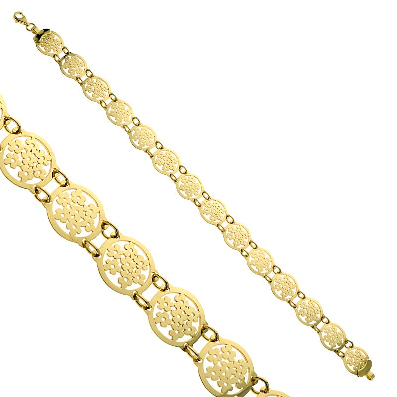 Bransoletka złota Ażurowe Margaretki