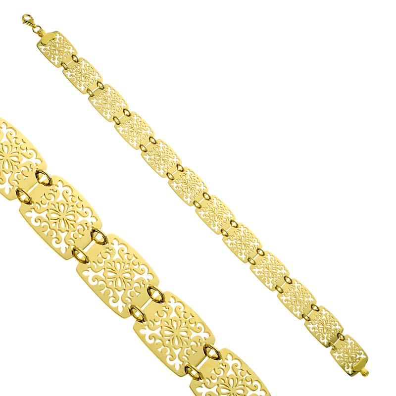 Bransoletka złota Ażurowe Ornamenty