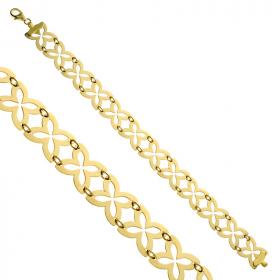 Bransoletka ażurowa złota Trefle