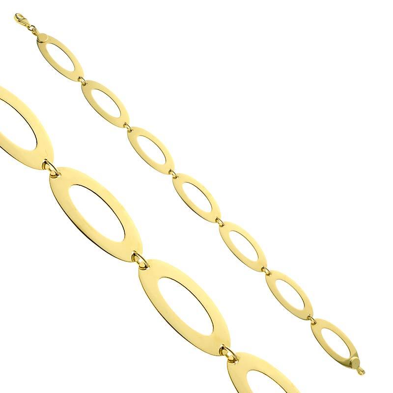 Bransoletka ażurowa złota Ellipse