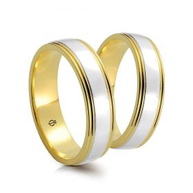 Złote obrączki Ombra Versione